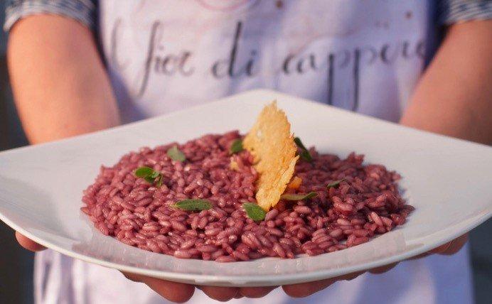 abbinamenti amarone: piatto di risotto all'amarone